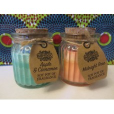 Scented soy candle pots (select from list)