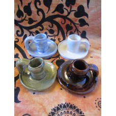 Handmade pottery candle holders
