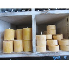 Beeswax Tea lights, 3-6hr burn time (select from list)
