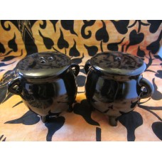 Cauldron ceramic salt and pepper shakers