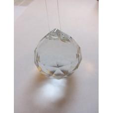 Rainbow Glass Sun Catcher - 45mm globe, clear