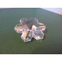Rainbow Glass Sun Catcher - 35mm, snowflake, clear