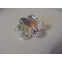 Rainbow Glass Sun Catcher - 30mm, snowflake, AB Ionised