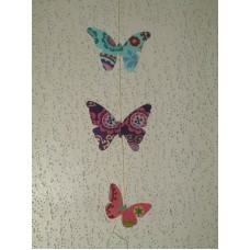 Hanging paper mobile - Butterfly design