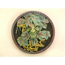 Handmade Green Man Wall Plaque 14cm - Acer Summer