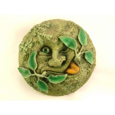 Handmade Green Man Wall Plaque 14cm - The Tree Spirit Summer