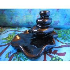 Backflow large pebbles incense burner