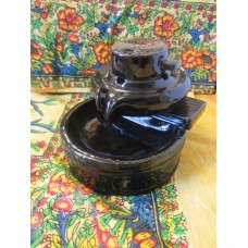 Backflow pebble incense burner