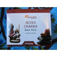 Seven Chakra backflow cones x 10