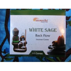 White sage backflow cones x 10