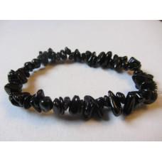 Black Tourmaline Freeform Bracelet 15cm