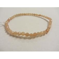 Pink Moonstone Facet Bracelet 19cm