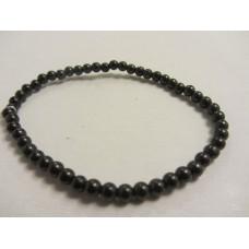 Shungite 4mm bead bracelet 16cm