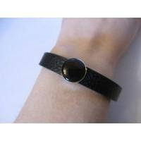 Shungite vegan leather bracelet 19cm