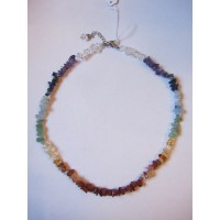 Chakra 18 inch crystal chip necklace