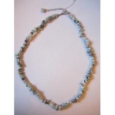 Larimar 18 inch crystal chip necklace