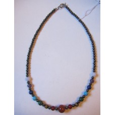 Magnetic Hematite Chakra necklace 16 inch