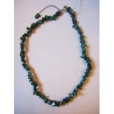 Malachite 18 inch crystal chip necklace