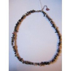 Mixed Tourmaline 18 inch crystal chip necklace