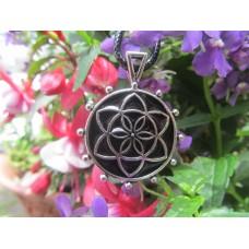 Shungite Seed of Life pendant