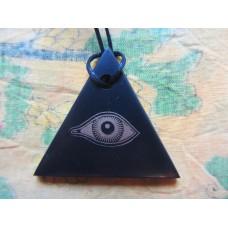Shungite Pendant - Horus Eye