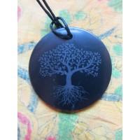Shungite Pendant - Tree of Life