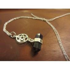 Amethyst pentagram necklace 16 inch Sterling Silver