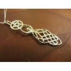 Celtic Goddess pentagram Pendant Sterling Silver
