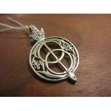 Chalice well pendant large Sterling Silver