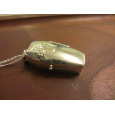 Coffin Locket Pendant Sterling Silver