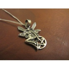 Fairy protection pentagram pendant Sterling Silver