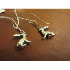 Hare earrings Sterling Silver