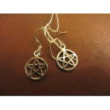 Pentagram earrings Sterling Silver