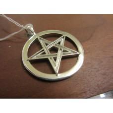 Pentagram pendant large Sterling Silver
