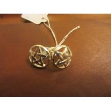 Pentagram stud earrings Sterling Silver