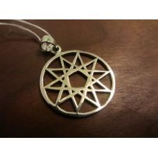 Ten pointed star decagram pendant Sterling Silver