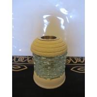 Glass brick oil burner