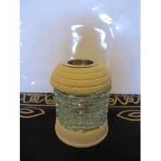 Glass brick oil burner