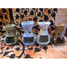 Handmade pottery oil burners