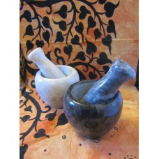 Marble mortar & pestles, various sizes & colours
