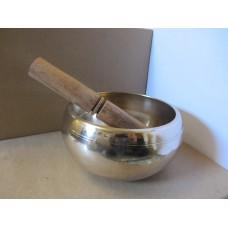 12cm Beaten Brass Singing Bowl with stick