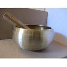 15cm Beaten Brass Singing Bowl with stick