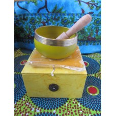8cm Chakra Singing Bowl Set - Solar Plexus