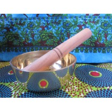 12cm Brass Singing Bowl with stick