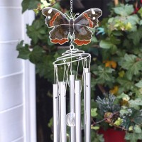 Red Admiral butterfly wind chime