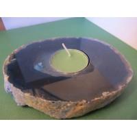 Blue Agate Tea Light Holder 498g