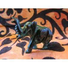 Malachite Elephant 70mm (Second Hand)
