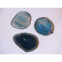 Agate slices 5-6cm (blue/green)