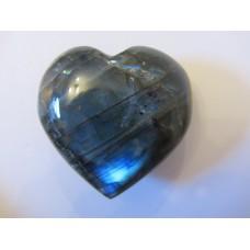 Labradorite puff heart 50mm