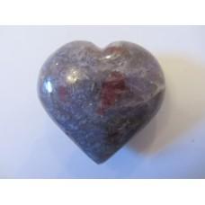Lepidolite in Pink Tourmaline heart 50mm